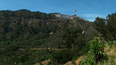 Hollywood sign wide shot - HD  Stock Footage