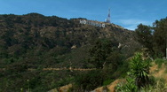 Stock Video Footage of Hollywood sign wide shot - HD
