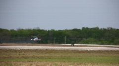 Military jet landing Stock Footage