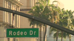 Rodeo Drive sign close-up - HD  - stock footage