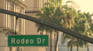 Stock Video Footage of Rodeo Drive sign close-up - HD