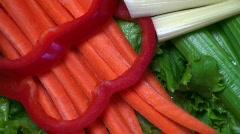 Vegetable Platter Stock Footage