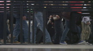 Airport security checkpoint Stock Footage