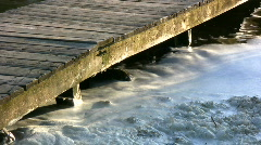 White foam in lake Stock Footage