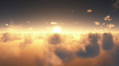 Clouds sunset Stock Footage