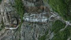Waterfalls double Bridal Veil Falls verticle P HD 0275 Stock Footage