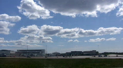Take-off from the airfield Stock Footage
