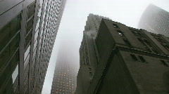 Misty skyscrapers. Gotham city style. Stock Footage