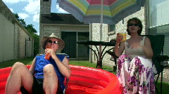 Outdoor vacation couple pt2 Stock Footage