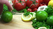 Lime sliced thin Stock Footage