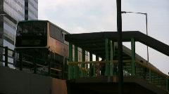 China Hong Kong Wan Chai double deck bus Stock Footage