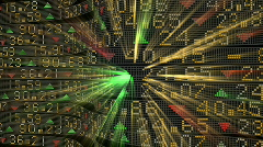 Stock Tickers Glowing Stock Footage