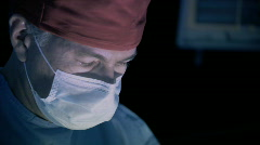Doctor closeup operating Stock Footage