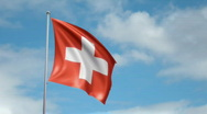 Stock Video Footage of Flag of Switzerland