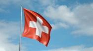 Flag of Switzerland Stock Footage