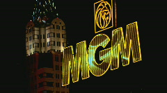 MGMSignNYNY Stock Footage