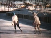 Stock Video Footage of Skating Outdoors in 1960 (Vintage 8mm film footage)