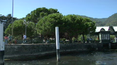 Cernobbio port 01 Stock Footage