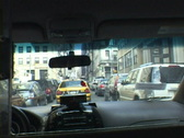 New York City Taxi Interior Stock Footage