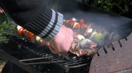 Stock Video Footage of Man preparing barbecue