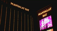 Stock Video Footage of MandalayBay lowangle