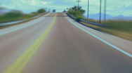 Driving car time lapse loop Stock Footage