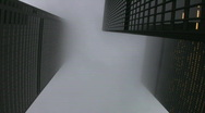 Stock Video Footage of Misty skyscrapers.