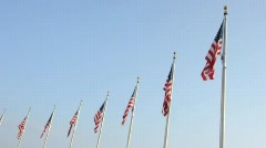 American Flag Flying in the Wind United States Stock Footage