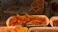 Stock Video Footage of Junk food buffet