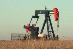 Oil Well On The Prairies - Close Up Stock Footage