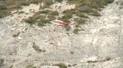 Aircraft, Helicopter mountain rescue training, #13 Stock Footage