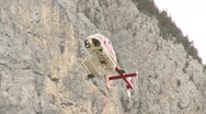 Stock Video Footage of aircraft, Helicopter mountain rescue training, #3