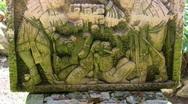 Mayan sculpture Stock Footage