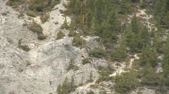 Aircraft, Helicopter mountain rescue training, dramatic, #8 Stock Footage