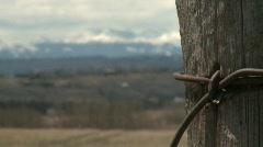 Mountains and prairie, #3 SW Alberta Stock Footage