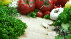 Hands Chop Parsley Stock Footage