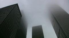 Misty skyscrapers. Timelapse effect applied. Stock Footage