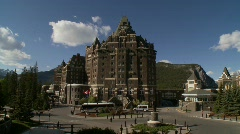 Banff Springs Hotel, montage - stock footage