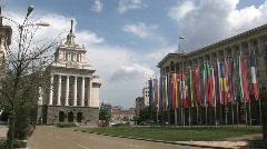 Downtown Sofia, Bulgaria Stock Footage