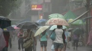 Hong Kong Monsoon typhoon rainy weather China Asia Stock Footage