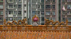 China Hong Kong Chinese Taoist temple Stock Footage