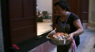 China Hong Kong Chinese banquet Big Bowl feast Poon Choi preparing Stock Footage