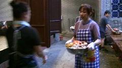 China Hong Kong Chinese banquet Big Bowl feast Poon Choi preparing - stock footage