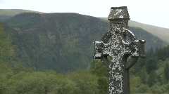 Celtic Cross Stock Footage