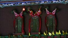 China Hong Kong Ping Shan heritage Tang Clan Sacrificial Altar Stock Footage