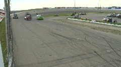 Motorsports, Big Rig racing, green flag drops, let's go racing! Stock Footage