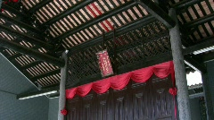 China Hong Kong Ping Shan heritage Tang Clan Sacrificial Altar Stock Footage