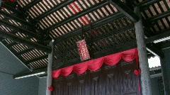 China Hong Kong Ping Shan heritage Tang Clan Sacrificial Altar - stock footage