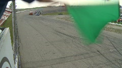 Motorsports, Big Rig racing, green flag, from starters cage Stock Footage