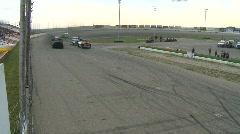 Motorsports, Big Rig racing, green flag Stock Footage
